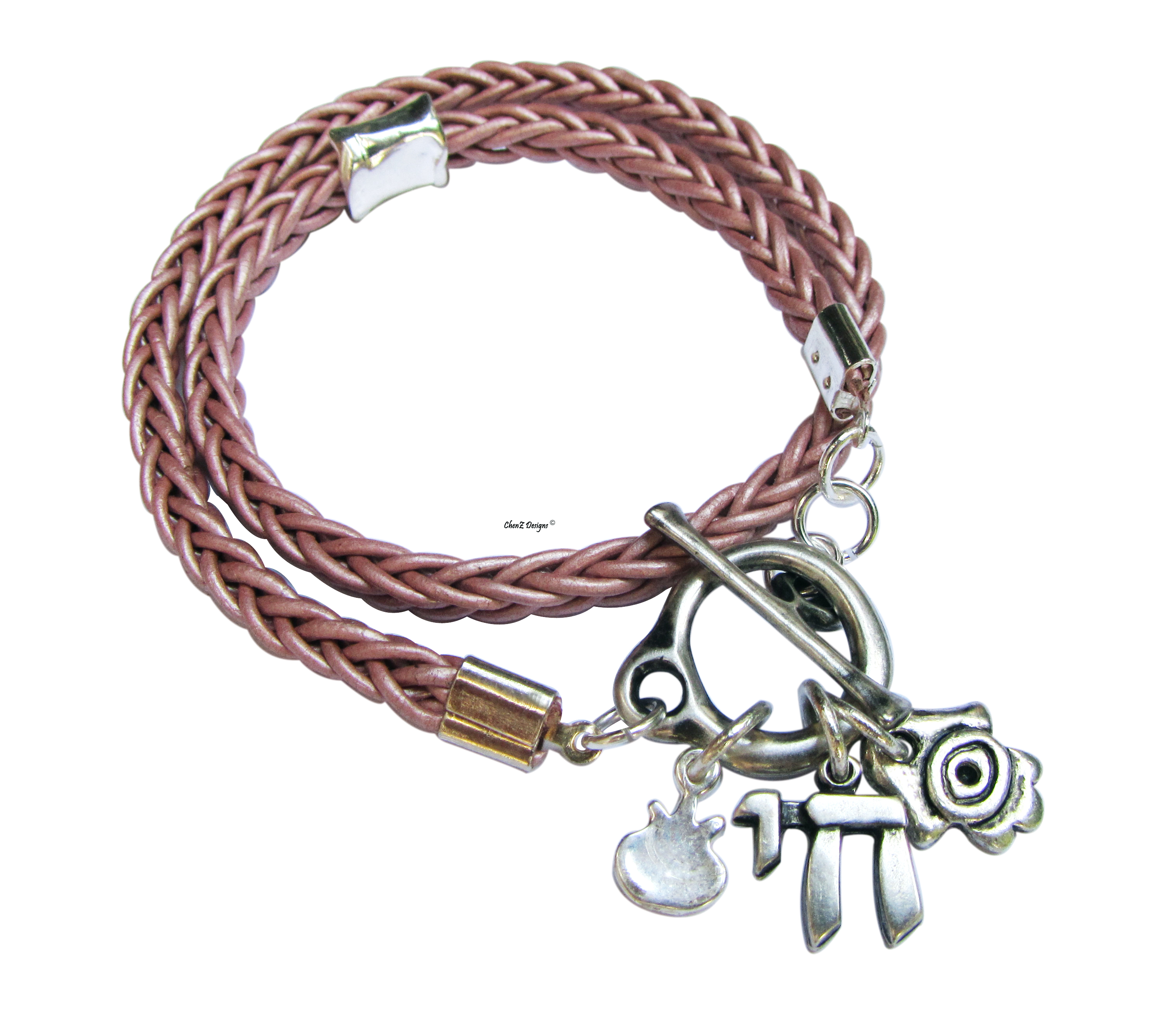 Chai with Multi Charms Wrap Bracelet