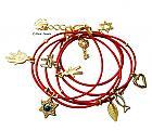 Wrap bracelet with Jewish charms